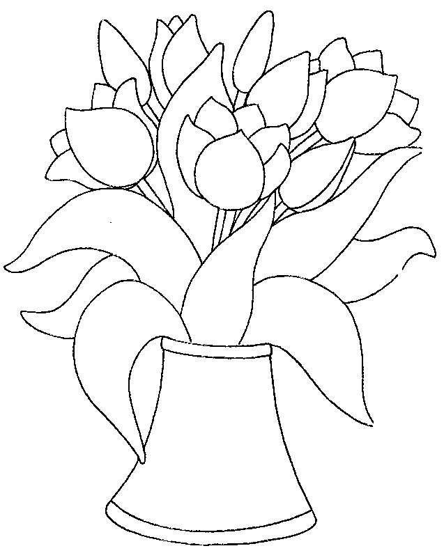 рисунки карандашом тюльпаны в вазе образом, китовый
