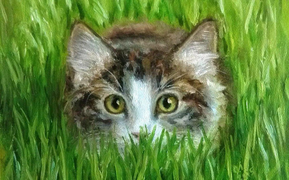 урок рисования акрилом коты