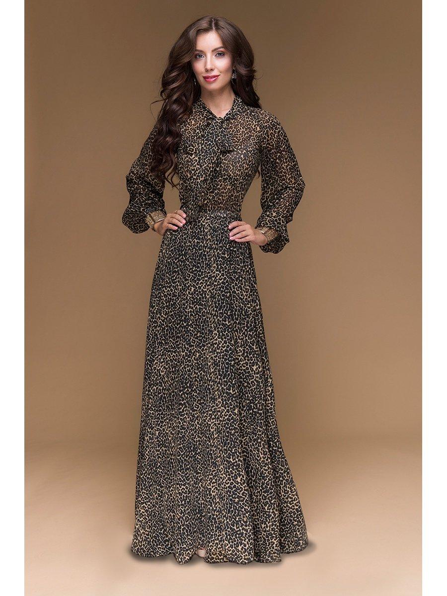 a1de7407c72 Вечернее платье из шифона. Красивый бант на шее