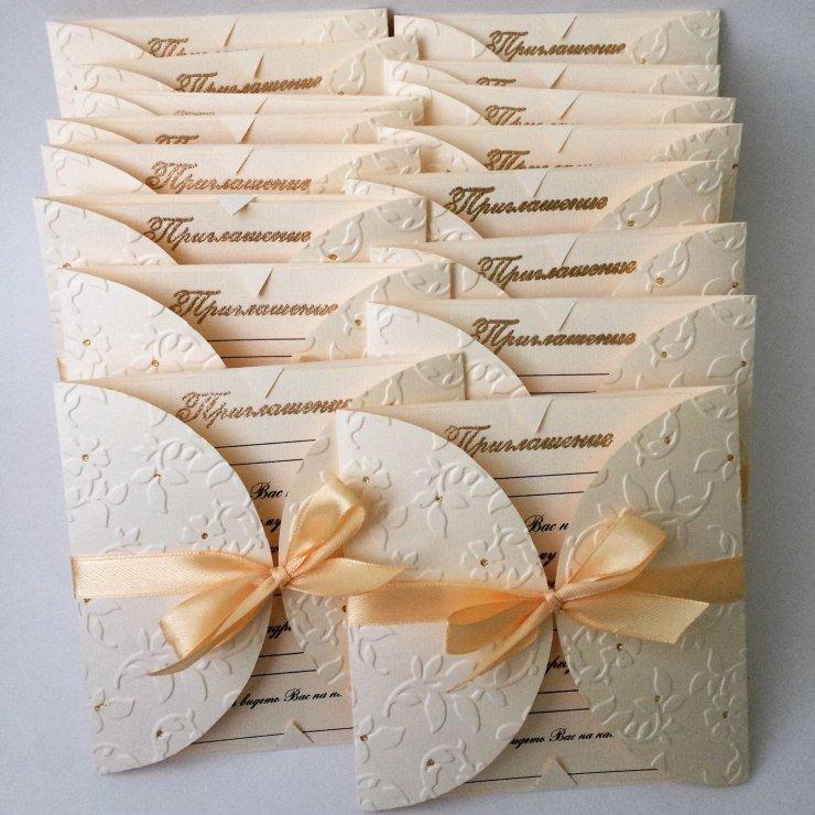 Оригинальные приглашения на свадьбу своими руками