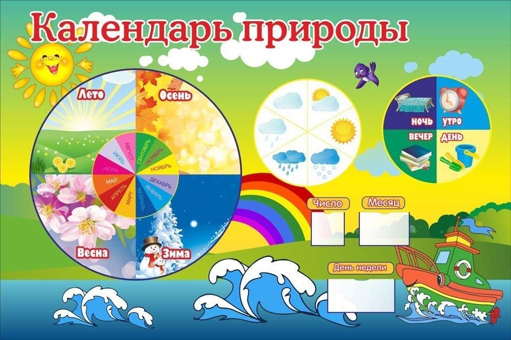 Картинка с надписью календарь природы