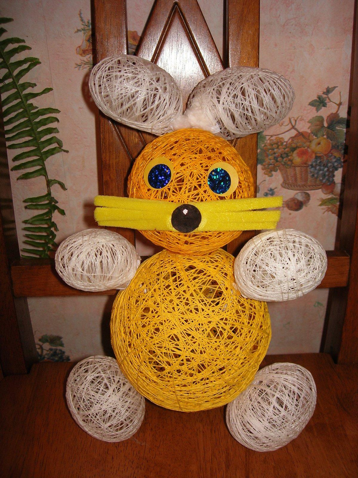 поделка из воздушных шаров и ниток своими руками пленки