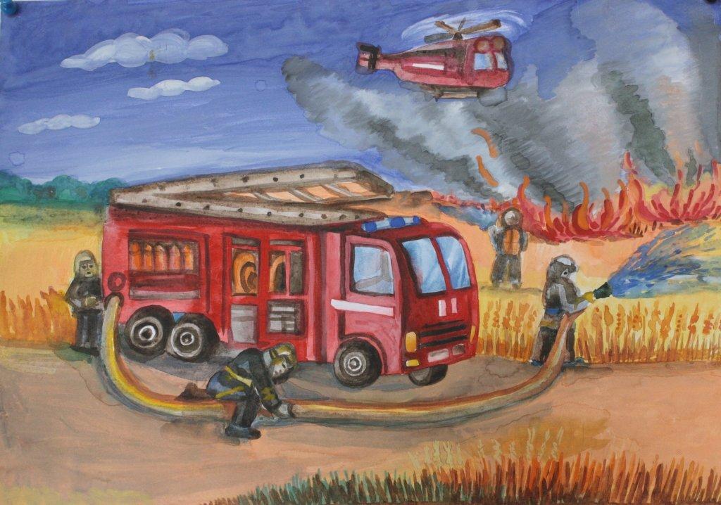 Новым годом, картинки пожарная тематика
