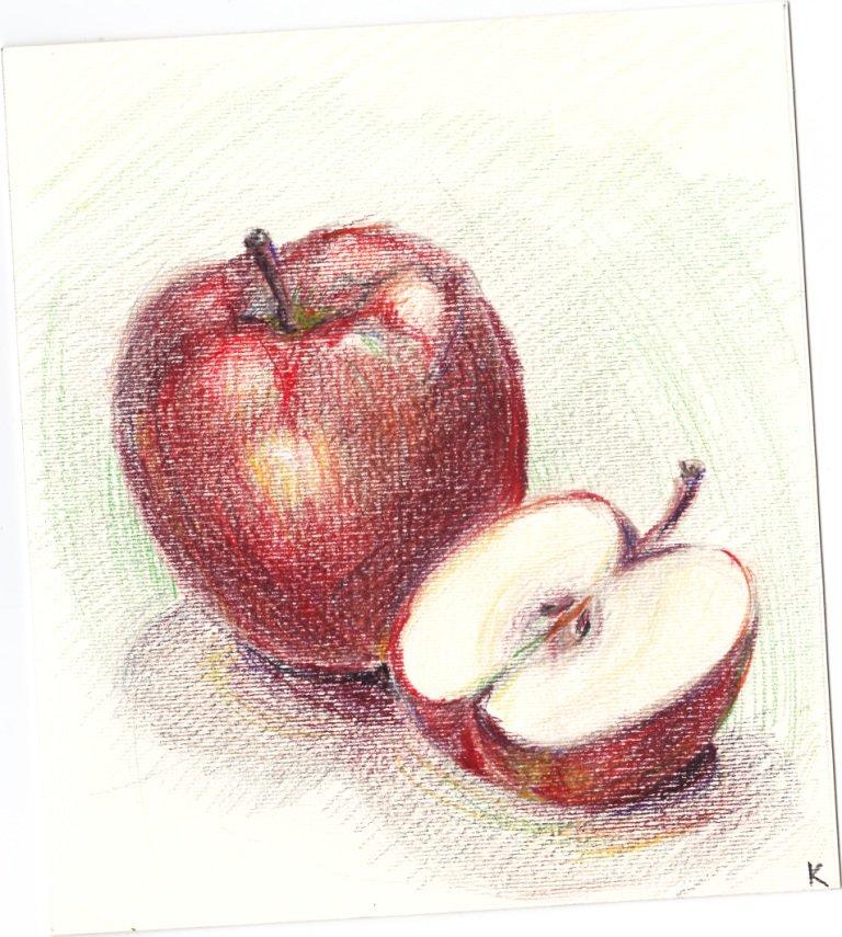 Легкие рисунки акварельными карандашами поэтапно