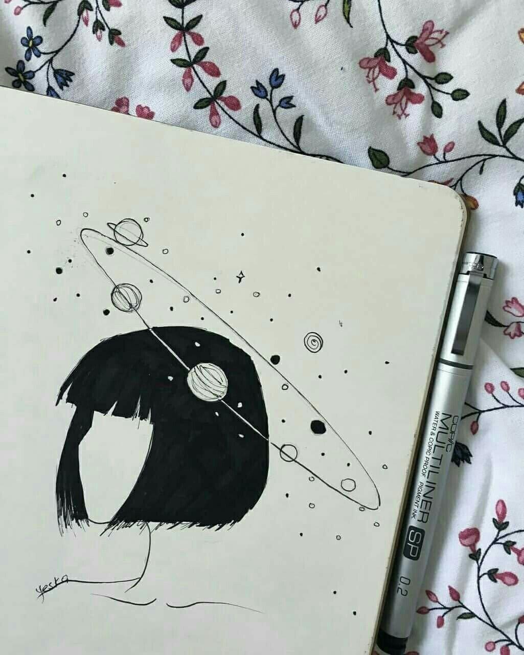 Днем, картинки черной гелевой ручкой веселые и милые