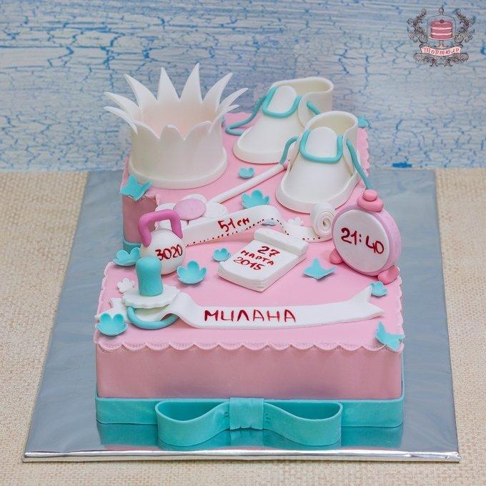 Картинка торт на годик для девочки