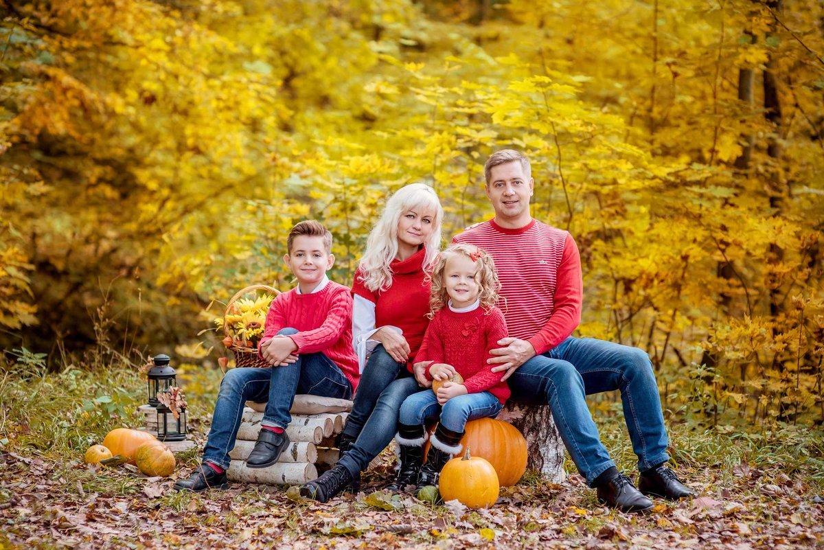 осенние фото в лесу семьей часть города