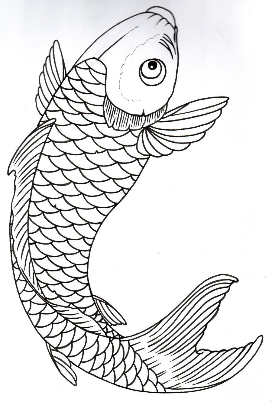 Рыба карп картинка раскраска