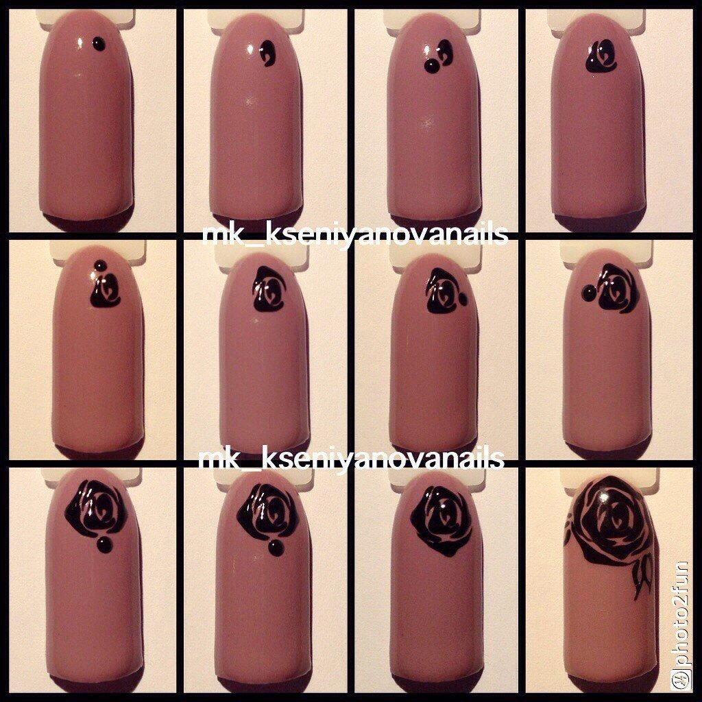Шеллак дизайн фото ногтей пошагово