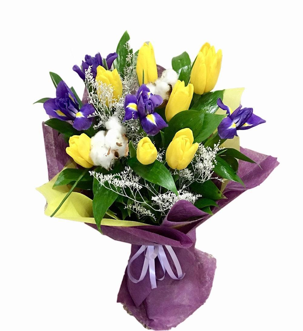 Цветов дому, заказ букеты из весенних цветов фото
