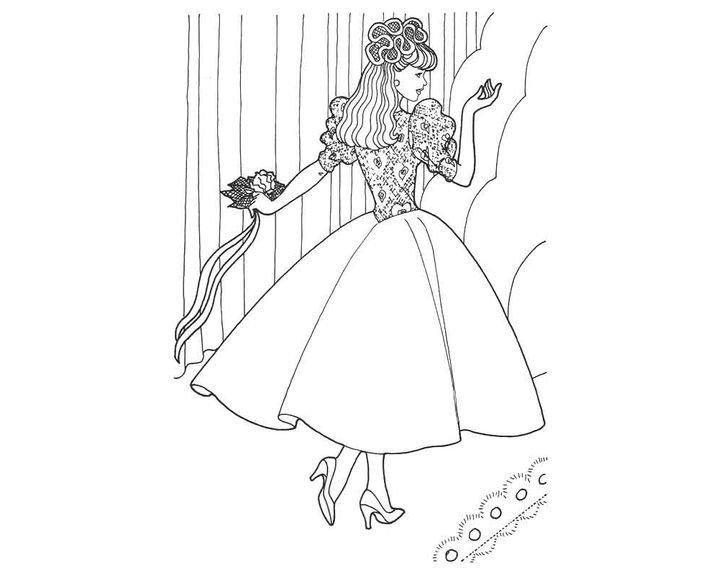 «Раскраска Принцесса с букетом Раскраски принцессы ...