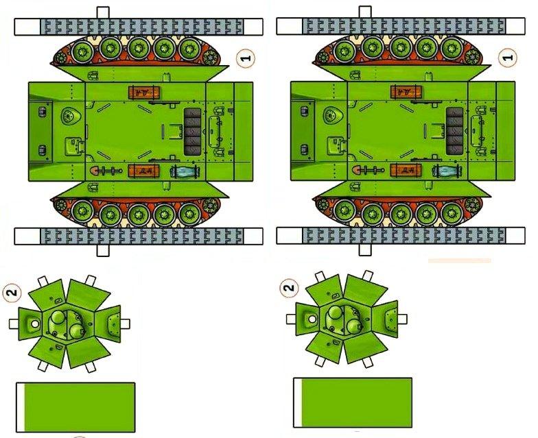 Для, как сделать танк из бумаги шаблоны