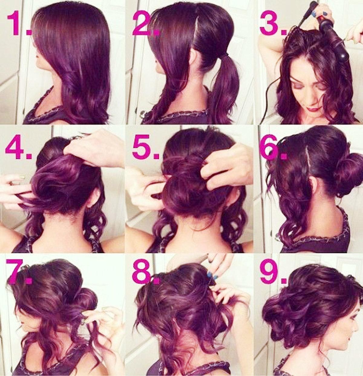 Модные прически на длинные волосы можно делать своими руками.