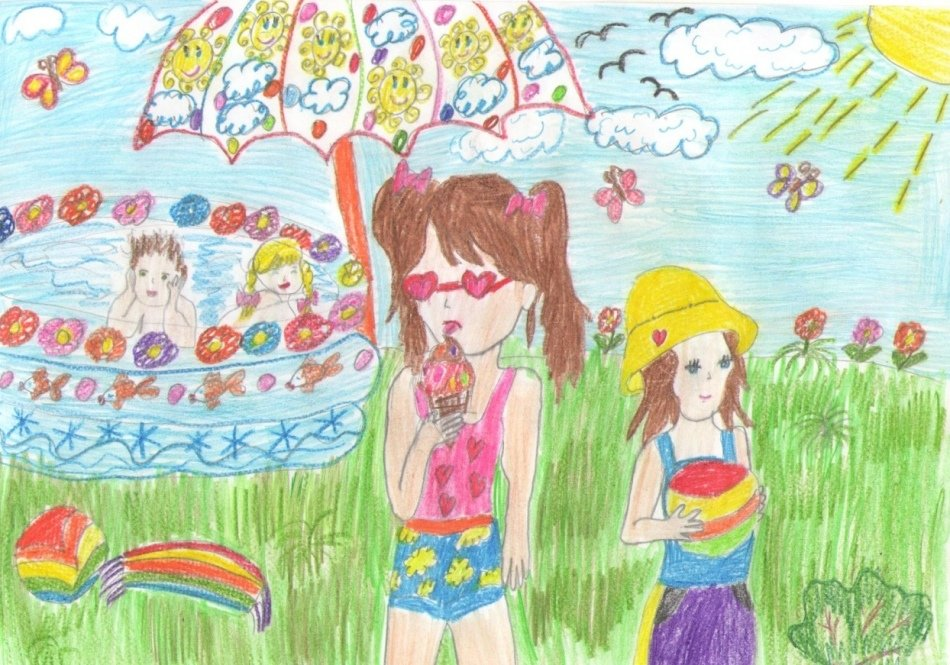 Картинки как нарисовать лето