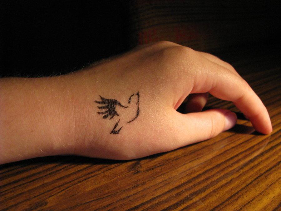 Картинки тату на руки птичек