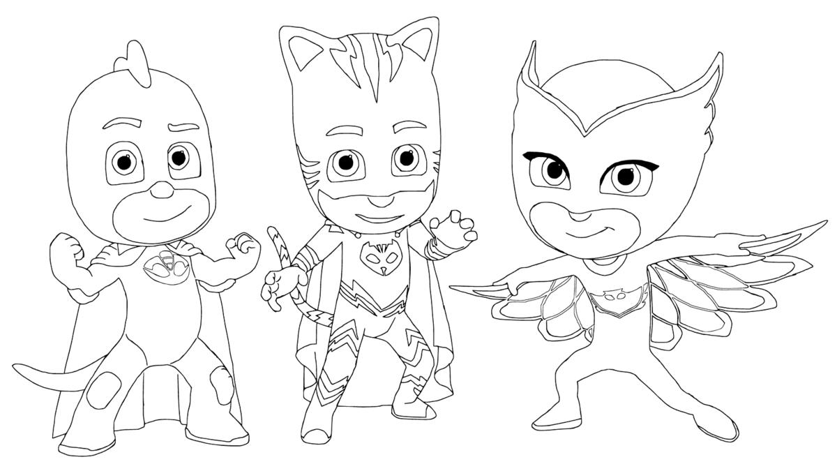 Герои в масках картинка для детей раскраска