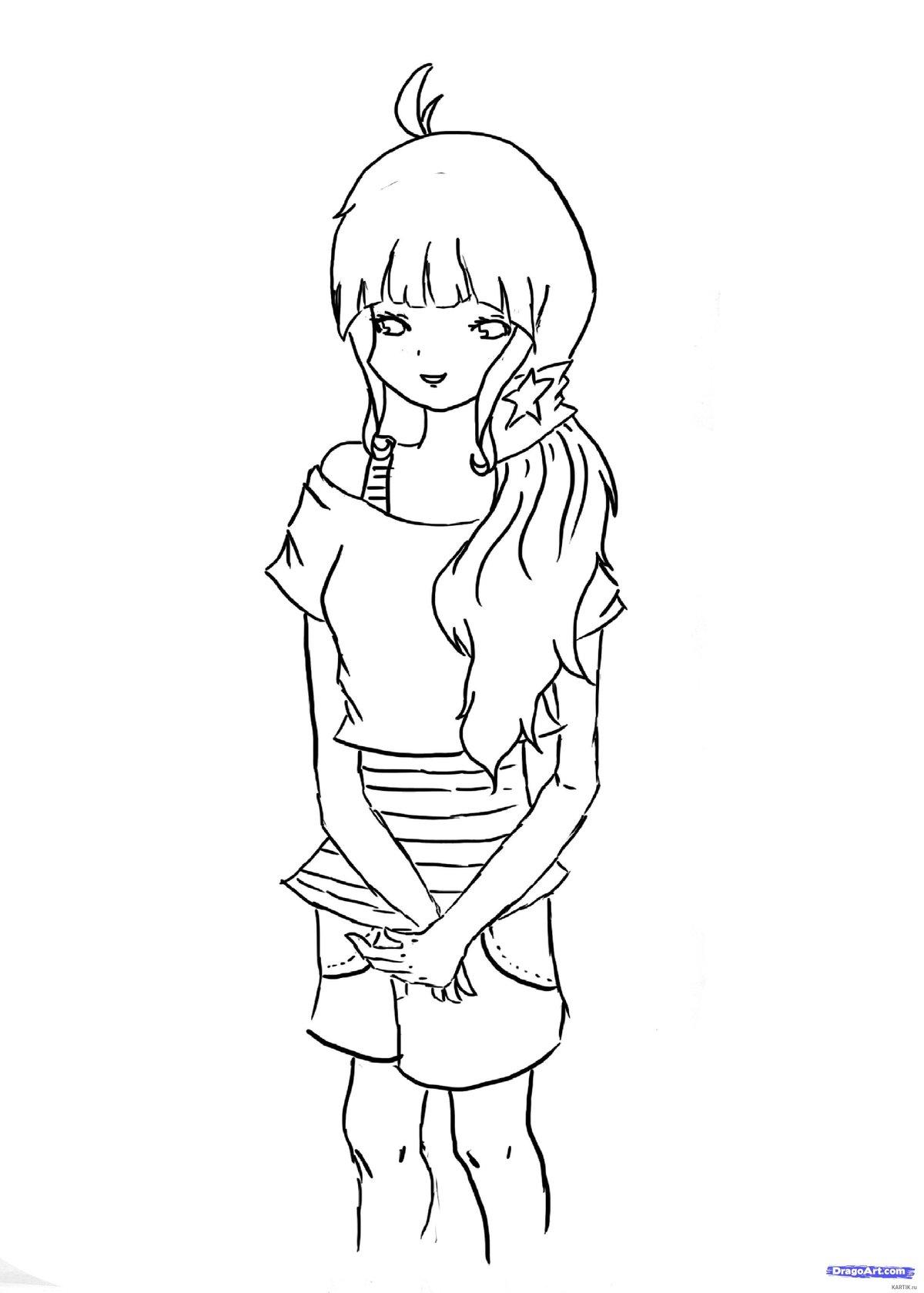 Картинки для срисовки карандашом прикольные для девочек 14 лет легкие аниме, плачущей девушки надписью