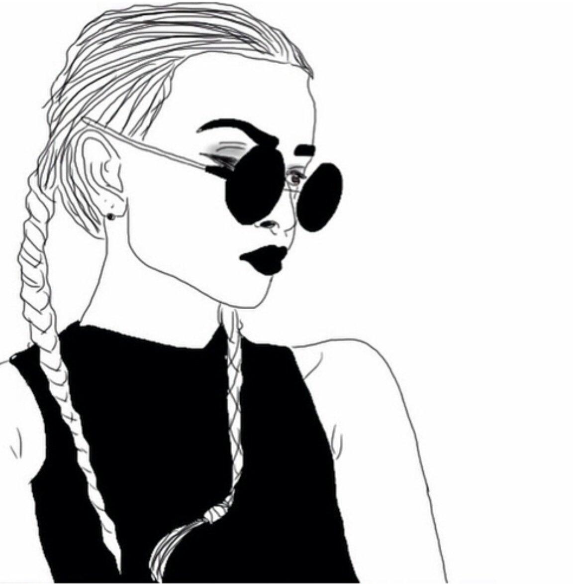 Черно-белые картинки для распечатки крутые для девочек, тверской