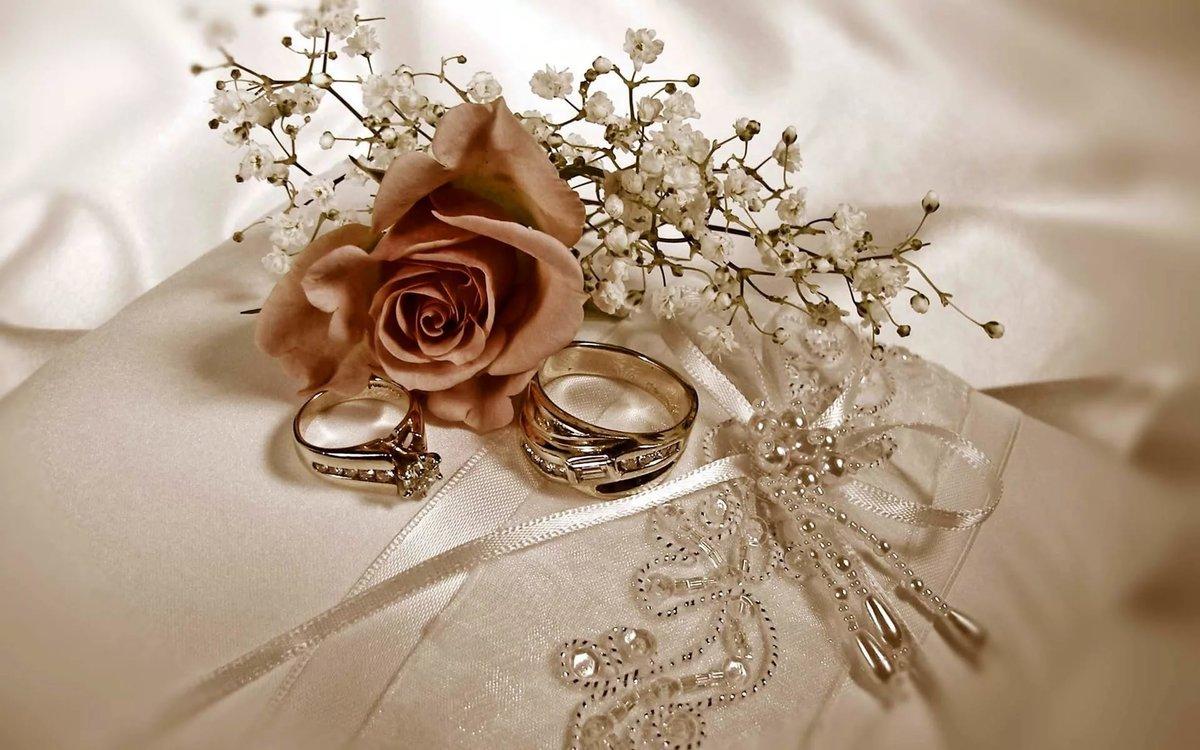 Шикарная свадебная открытка