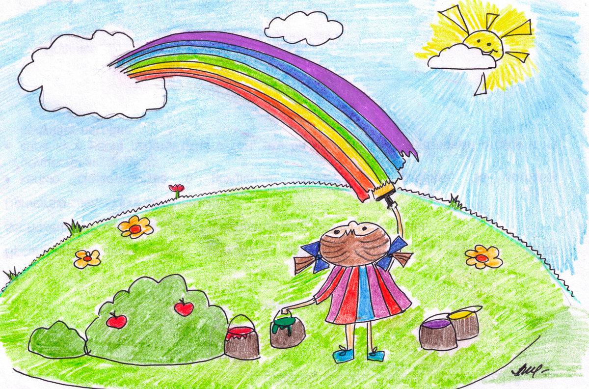 Рисование картинки к игре радуга
