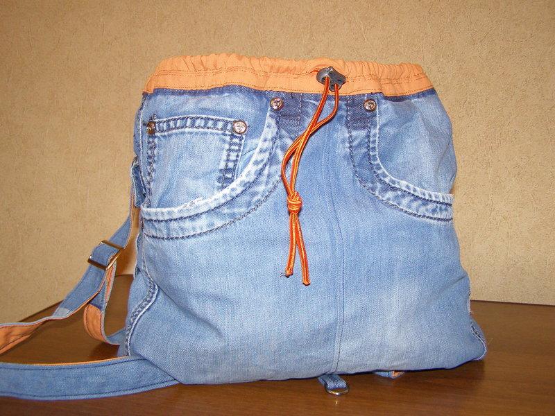 Джинсовые рюкзак своими руками распродажа рюкзаков спортивных