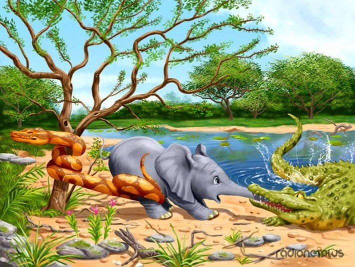 иллюстрации к сказке слоненок также обладают