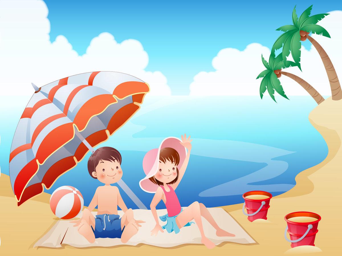Картинки ребенка на пляже