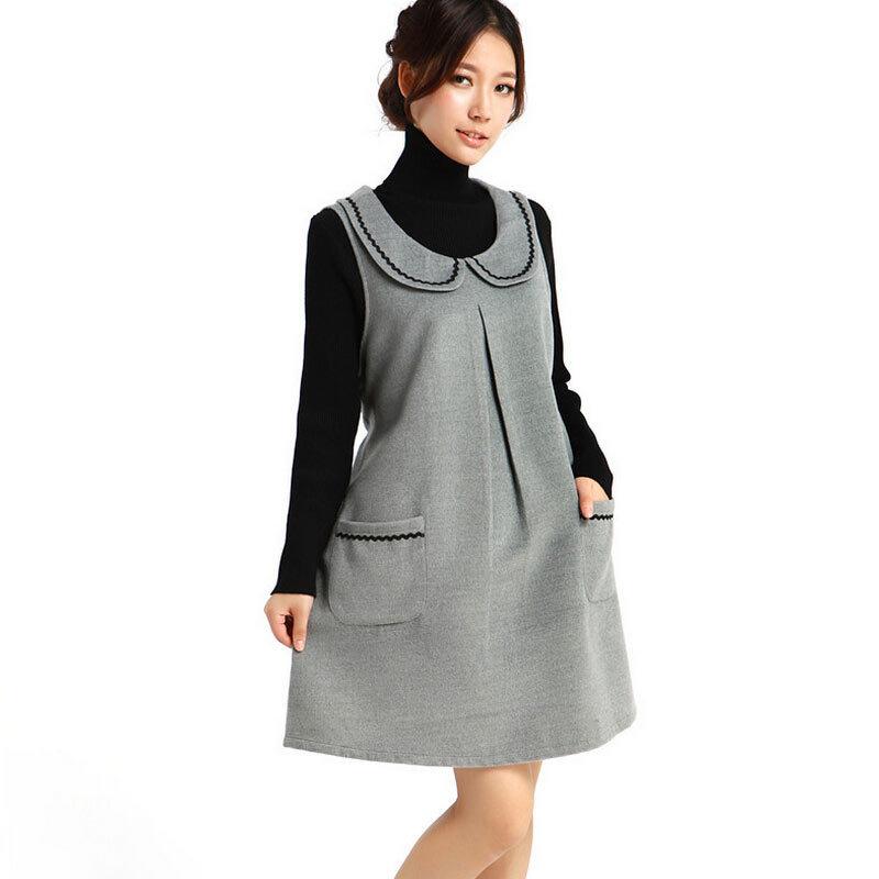 Бесплатная доставка 2015 одежда для беременных осень зима платье шерстяные  нижнего платья одежды для женщин беременность 8e6424a6845