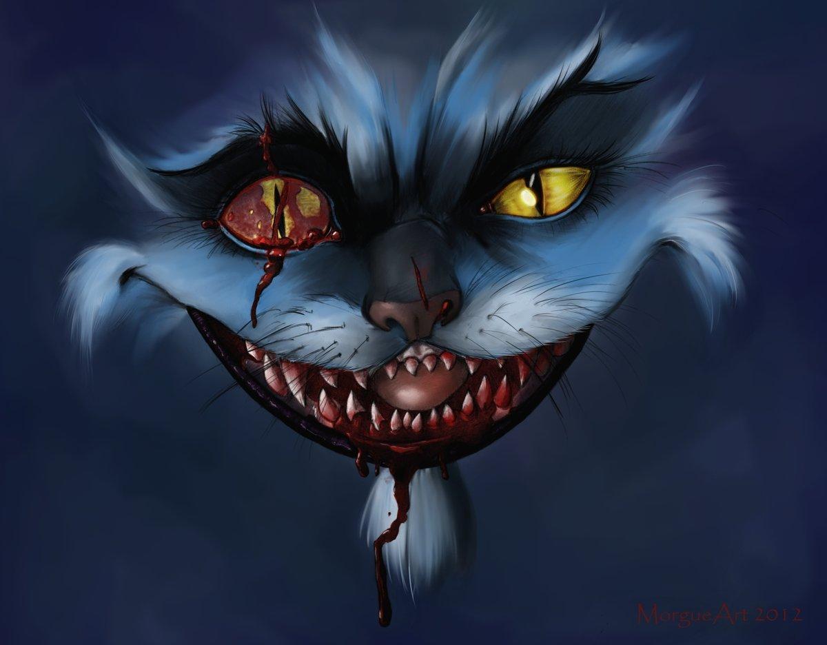 Нарисованные злые коты картинки