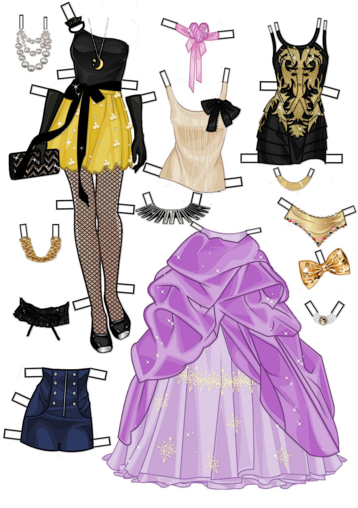 картинки наборы барби с одеждой для вырезания ирины