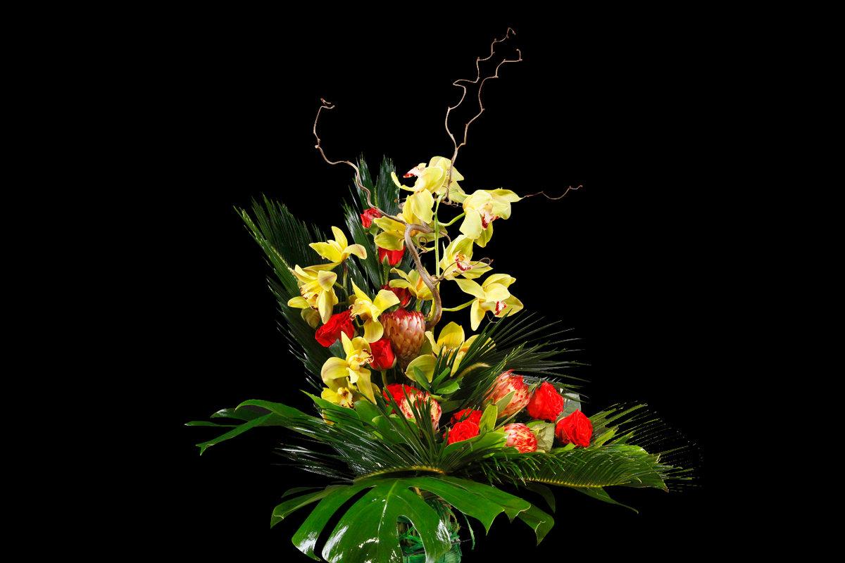 Открытка мужчина цветы, поздравления днем свадьбы