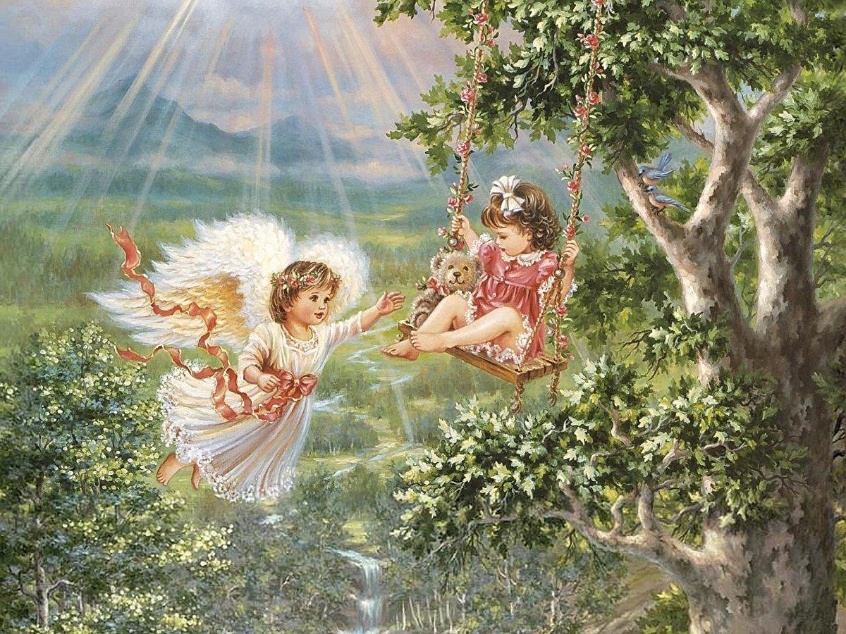 Рай картинки для детей, открытка