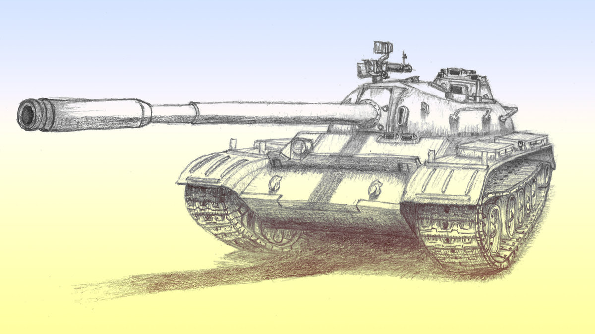 Картинка нарисованная танка