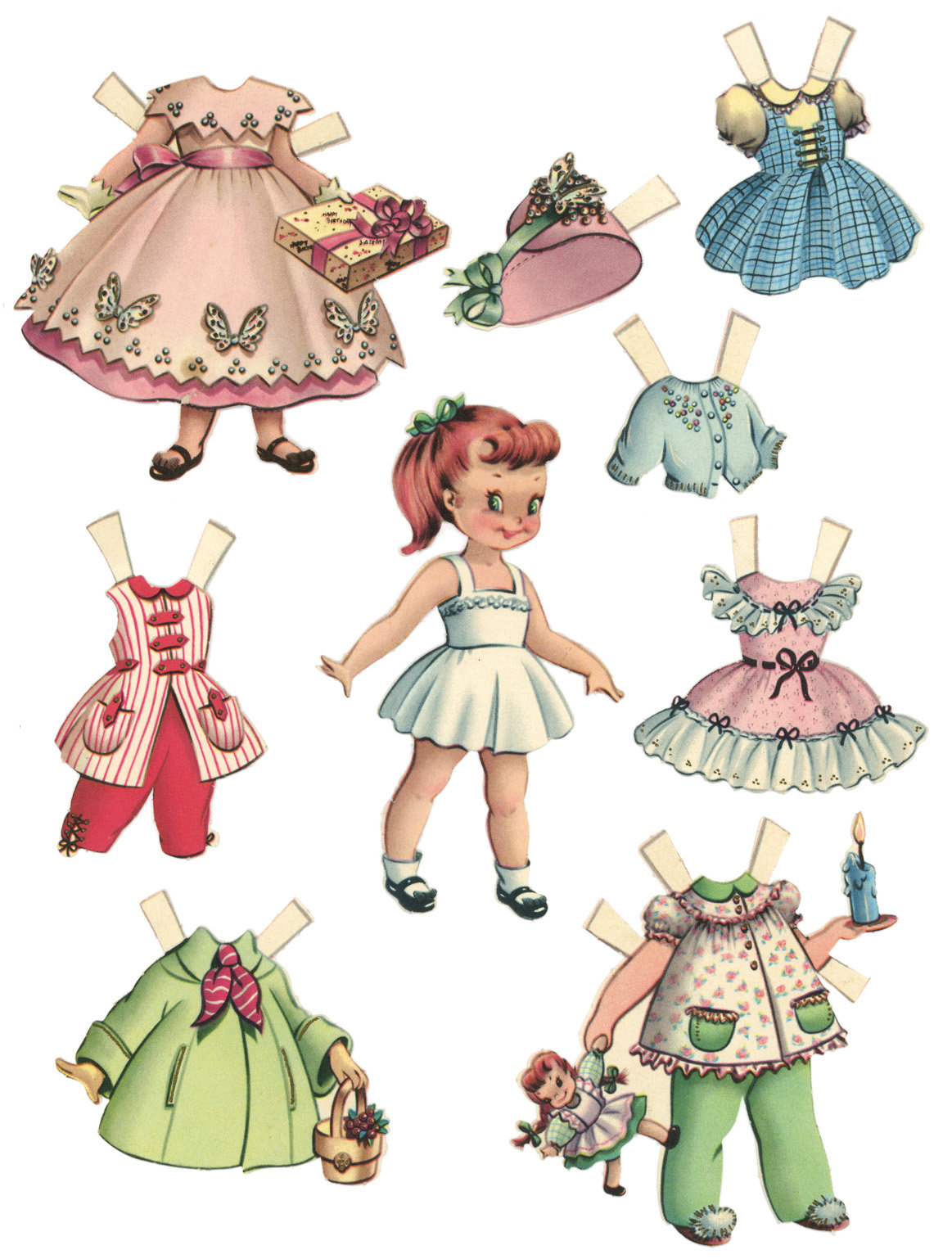 paper doll printable - 736×973