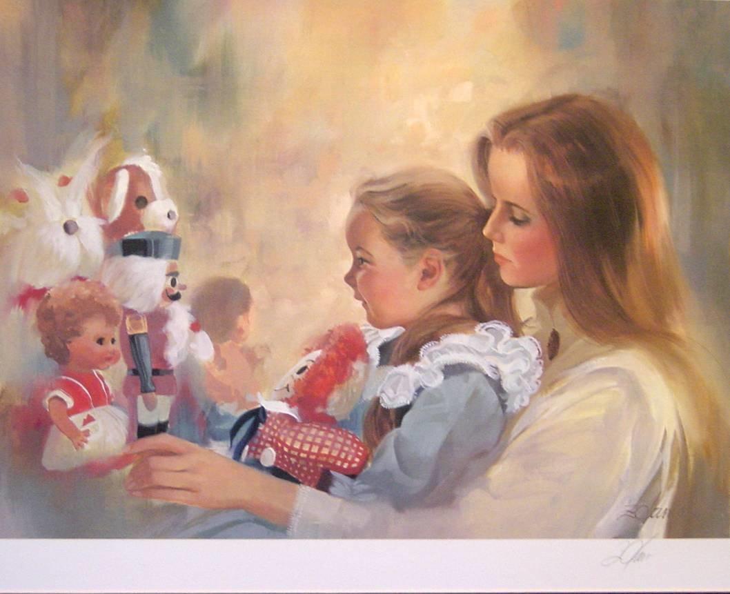 Открытки мамы и дочки, днем лентяя