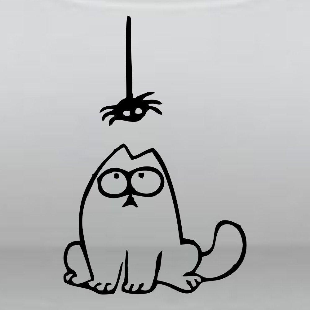 Хэерле, рисунок карандашом смешной кот