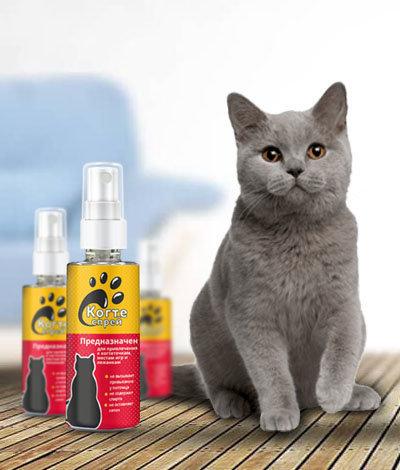 Когтеспрей - уникальный спрей для кошек в Рубцовске