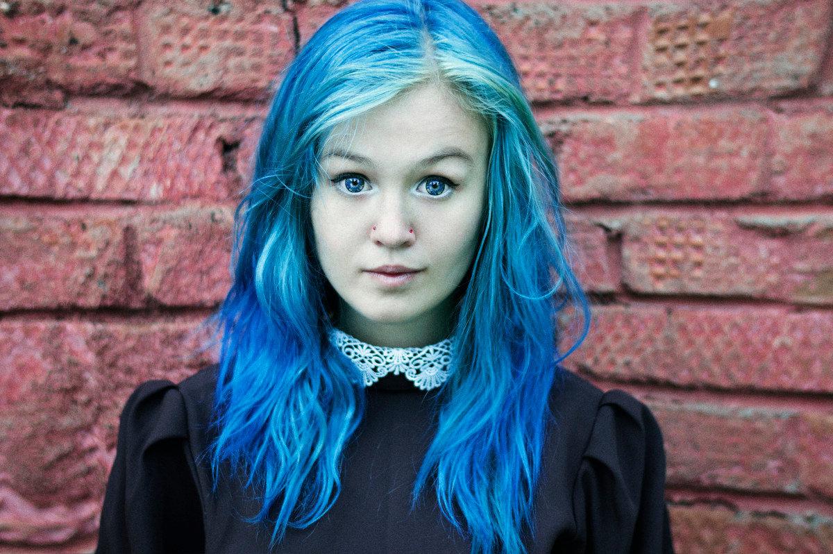 Картинки с синими волосами