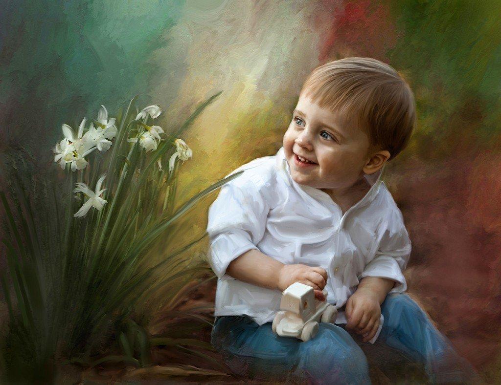Рисованные картинки с детьми красивые, картинки