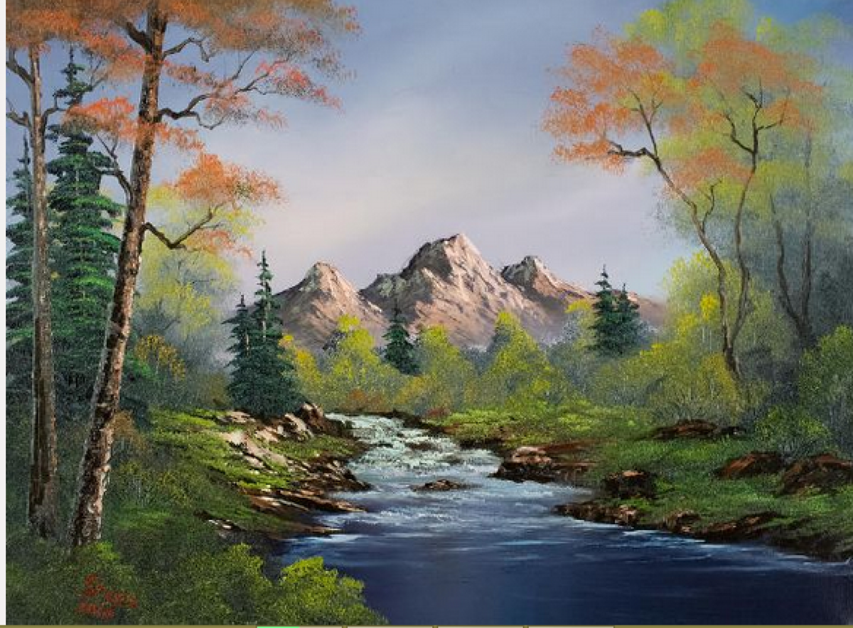 Bob Ross A Touch Of Autumn Painting For Sale Card From User