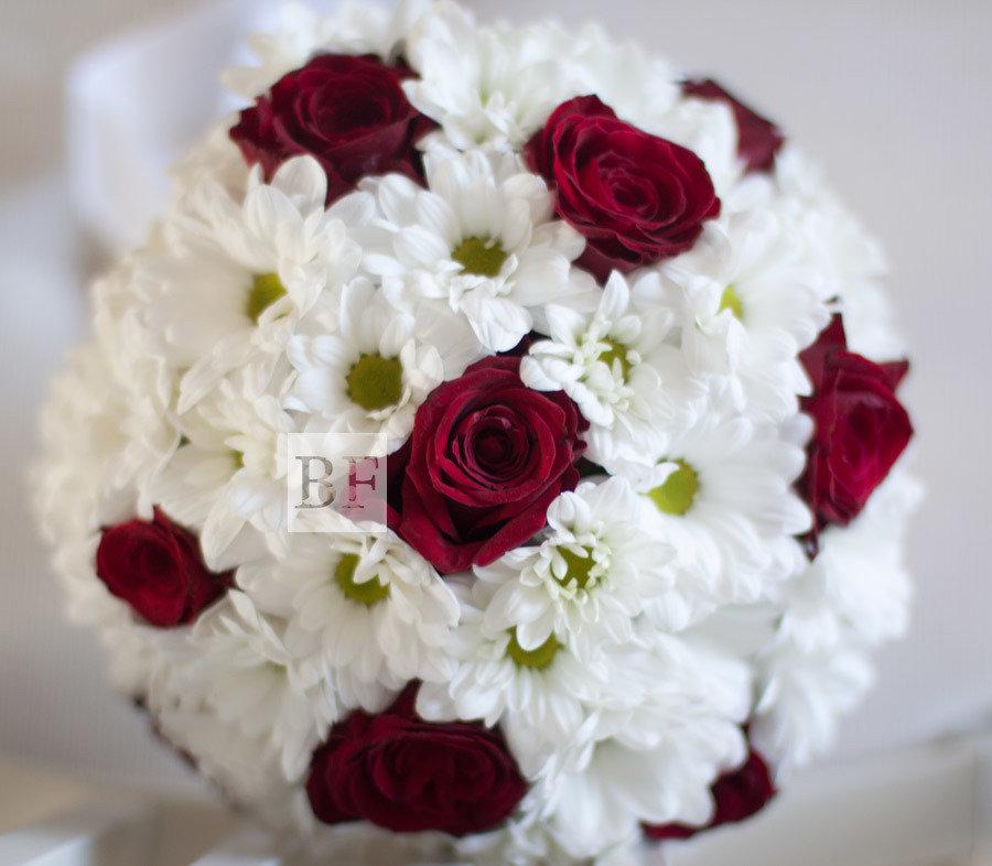 Омск, букет свадебный из роз и хризантем