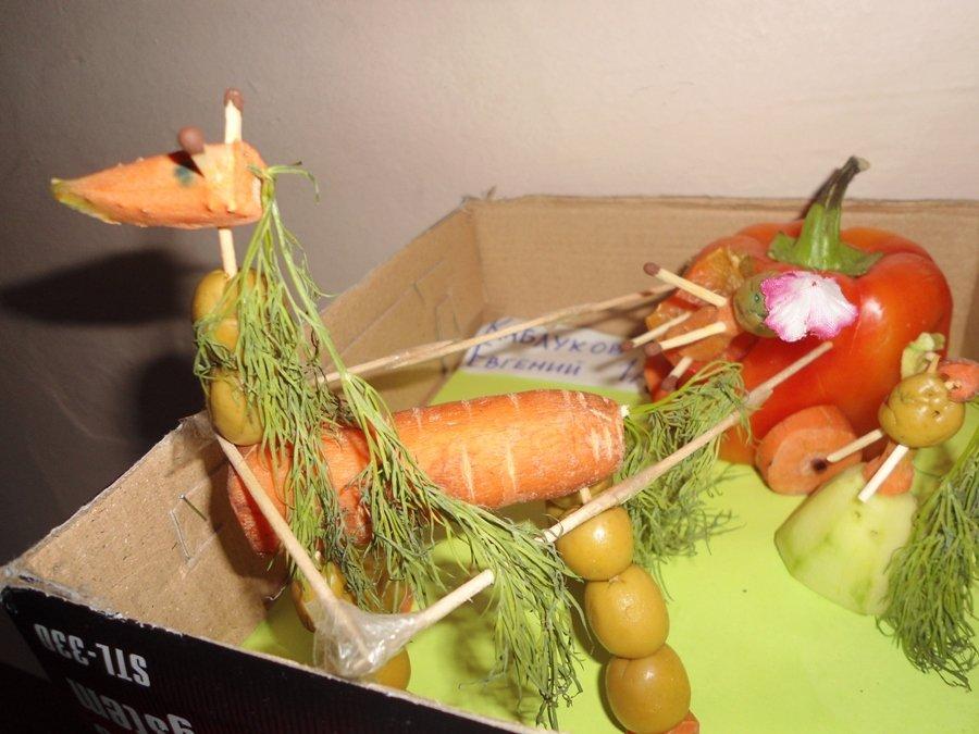 Фото осенние поделки из моркови