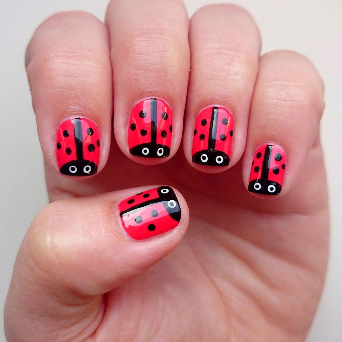 Картинки из лака для ногтей для девочек, для школы
