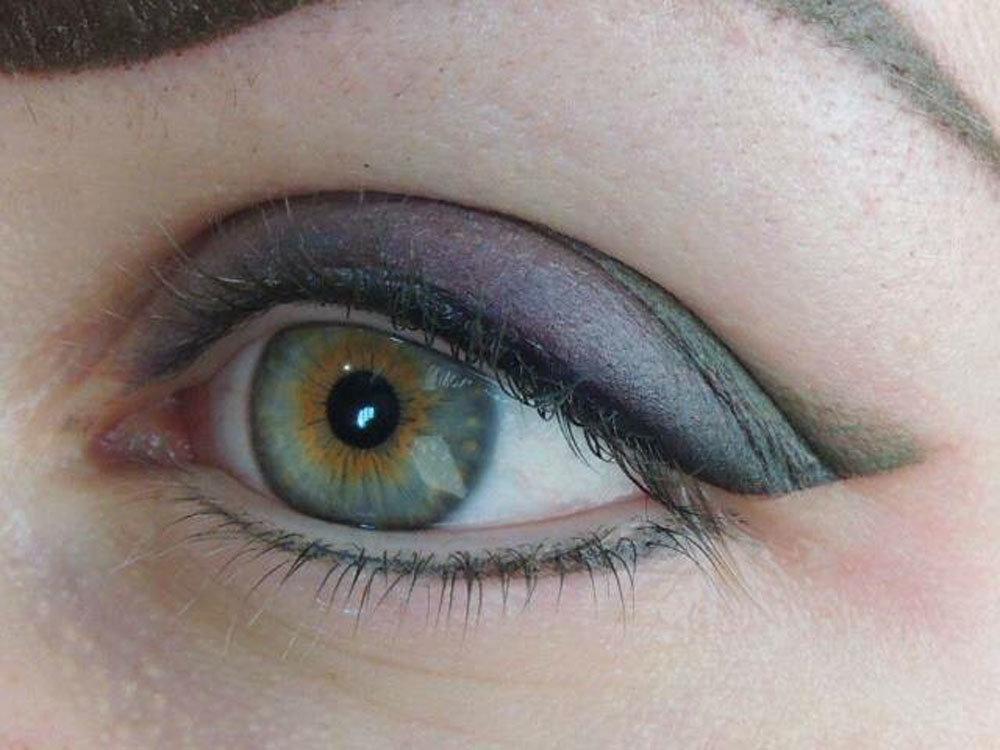 цветной татуаж глаз фото готов