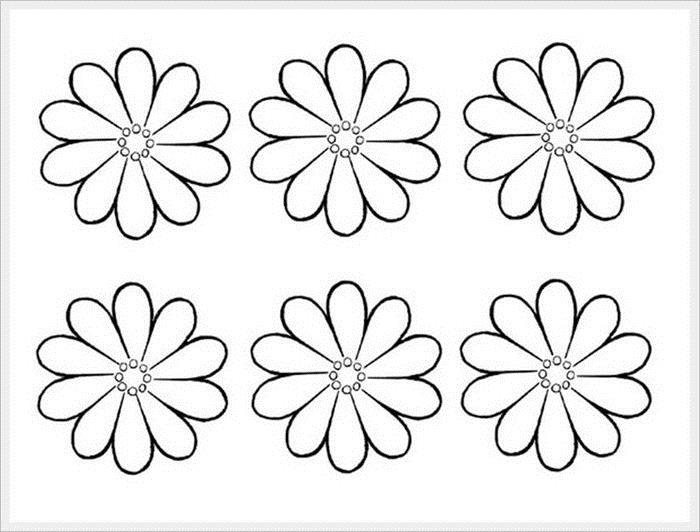 Шаблоны цветочек для вырезания из бумаги распечатать, прикольными картинками