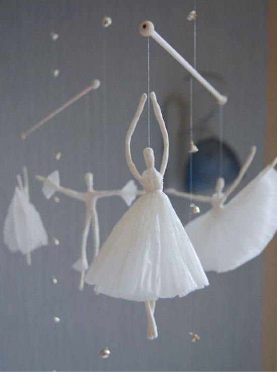Балеринки подвесные из бумаги фото