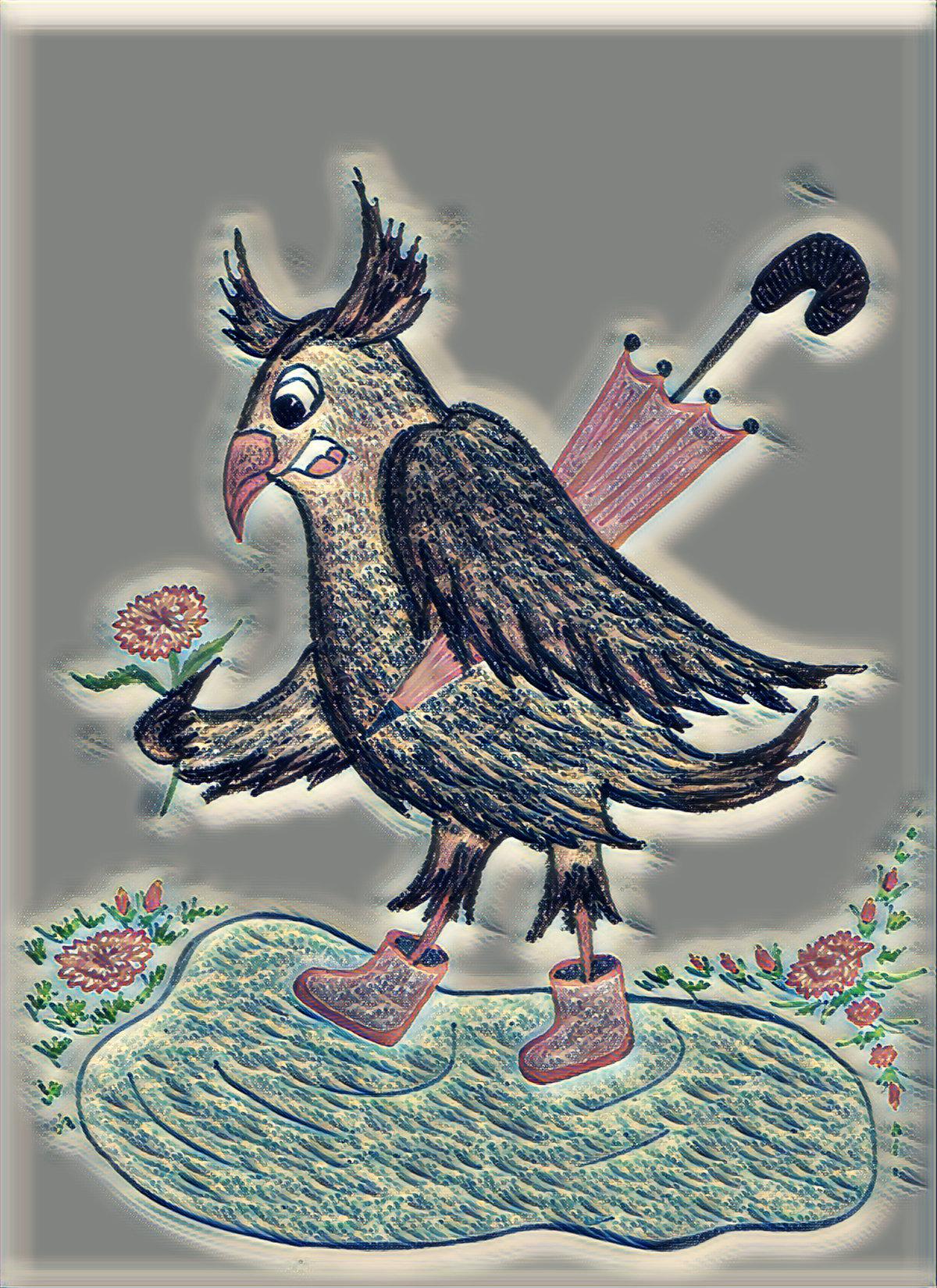 Красивые открытки бесплатно для вас / Beautiful postcards are free for you, p_i_r_a_n_y_a - Сова Ульяна и первые лужи. Весна