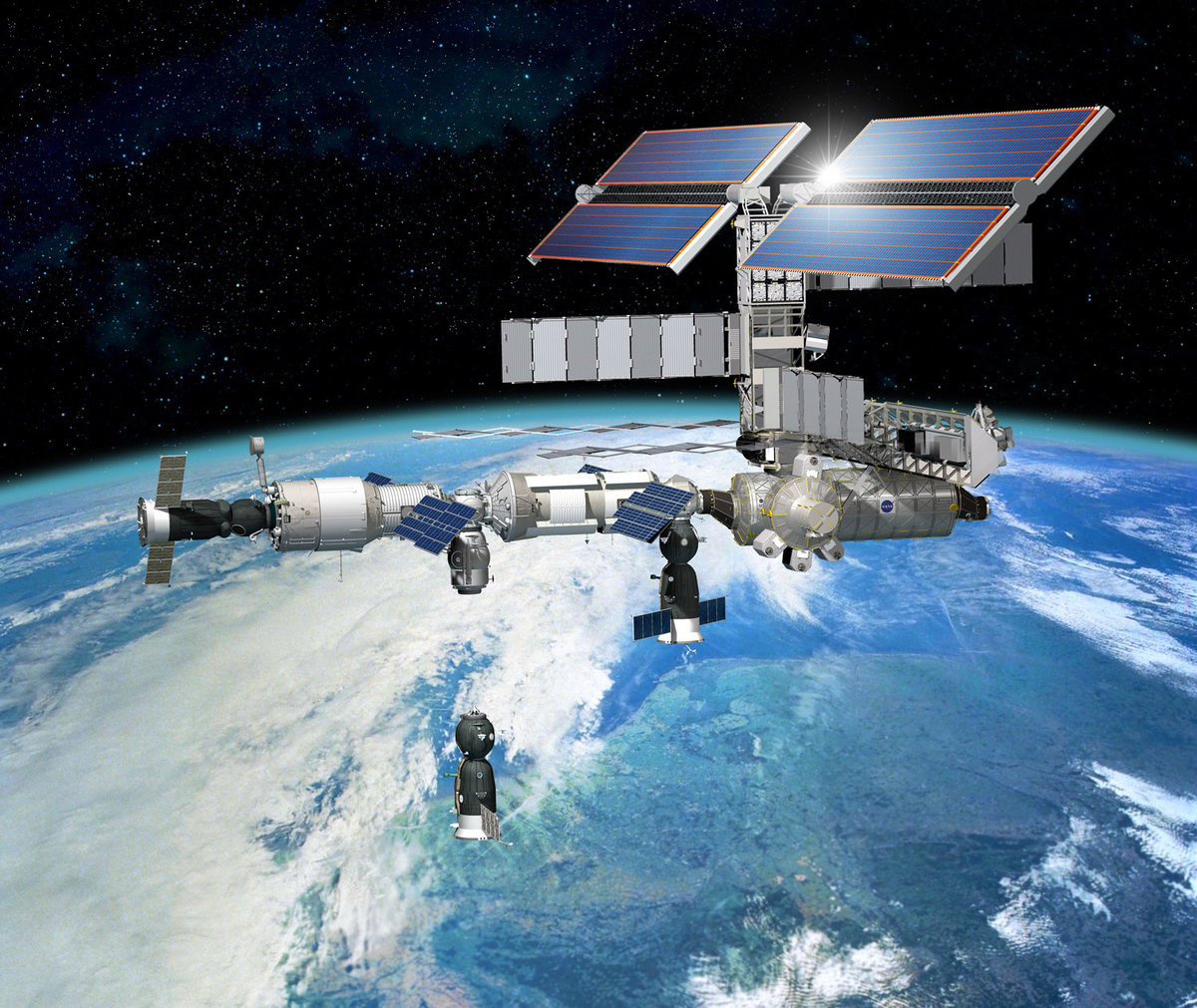 картинки межпланетные станции современных