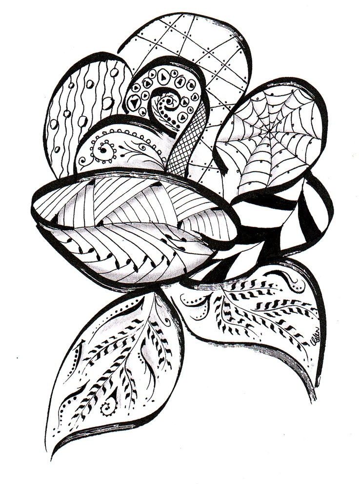 Zentangle Rose Bing Images Card From User Costenk0i In Yandex