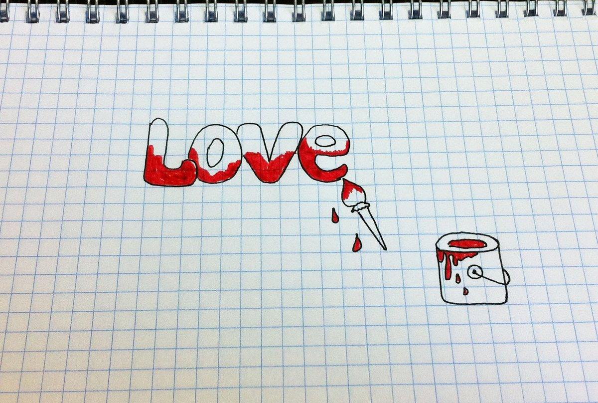 Прикольные рисунки черной ручкой про любовь
